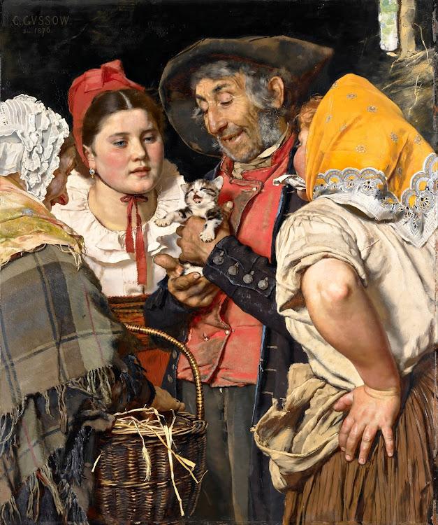 Karl Gussow - Old Man's Treasure (Das Katzchen) (c.1876)