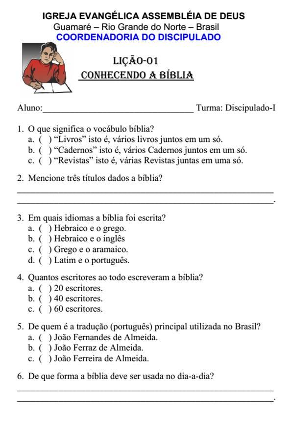 APOSTILA DISCIPULADO BAIXAR PARA DE