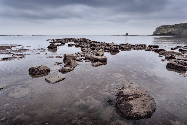 Rocky foreshore at Saltwick Bay in North Yorkshire by Martyn Ferry Photography