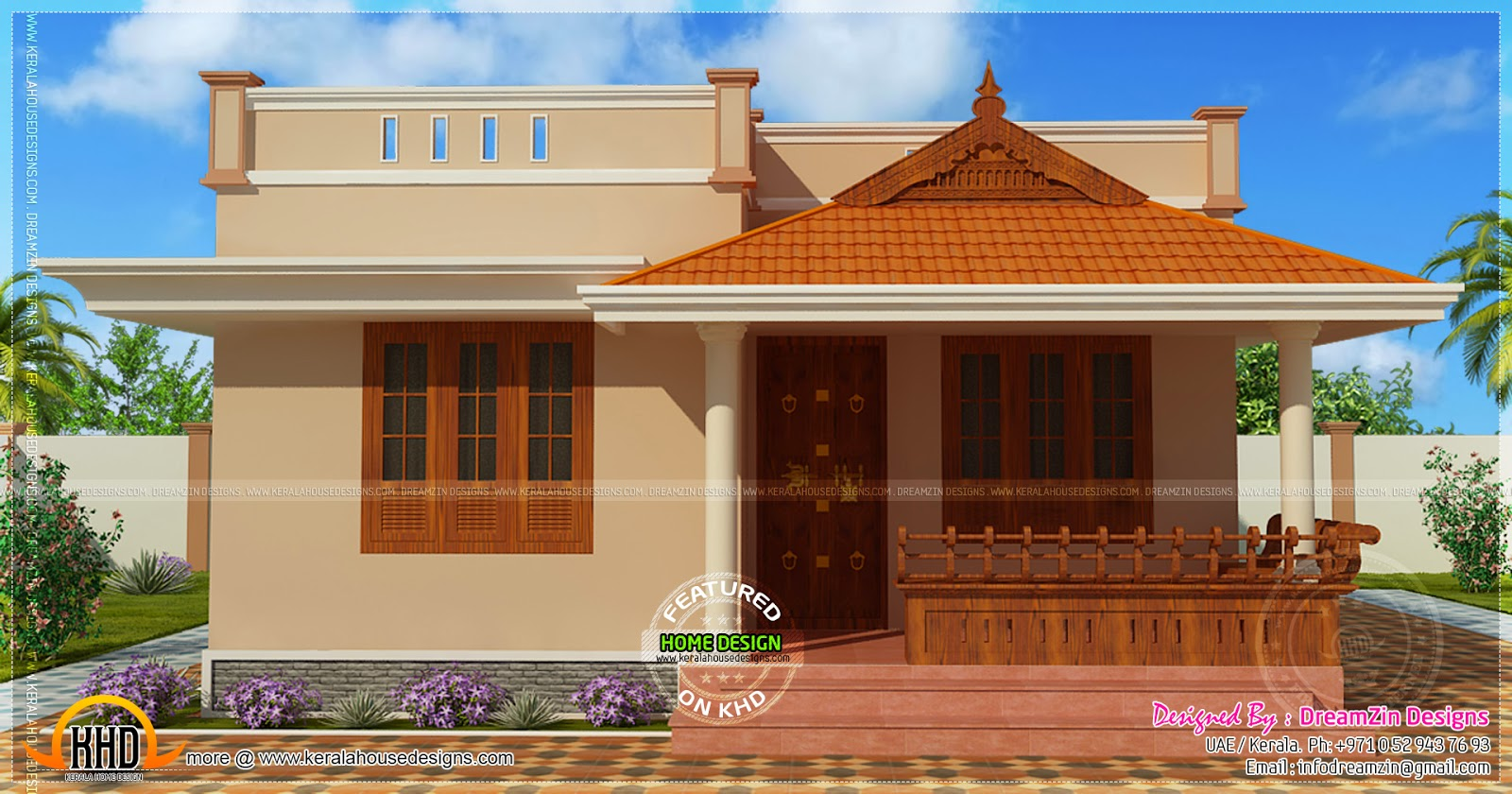 35 small and simple but beautiful house with roof deck for South indian small house designs
