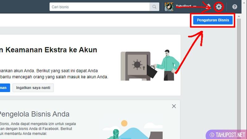 Dasbor atau Halaman Akun Bisnis Facebook