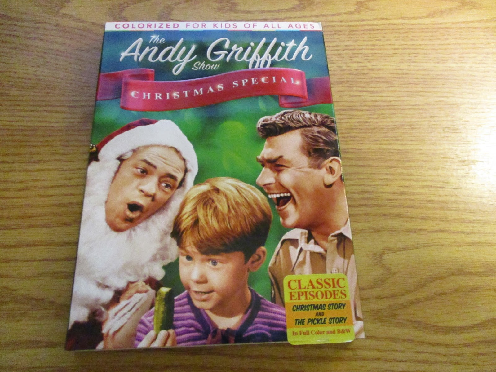 also included as special features are the original artwork versions of the two episodes both colorized and in the original black and white christmas story - Andy Griffith Show Christmas Story