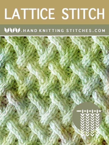 Hand Knitting Stitches - Lattice Cable Pattern