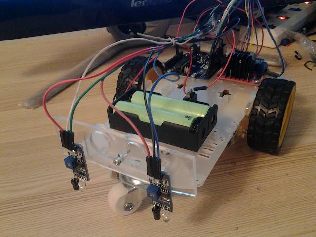 โปรเจค หุ่นยนต์เดินตามเส้น 2 เซ็นเซอร์ Arduino