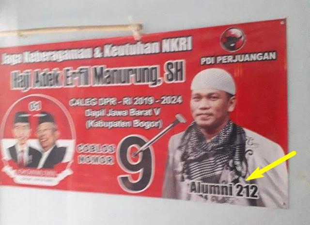Caleg PDIP Ngaku Alumni 212, Ini Tanggapan FPI