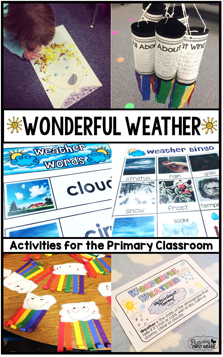 Wonderful Weather: Activities for the Primary Classroom   Fluttering ...