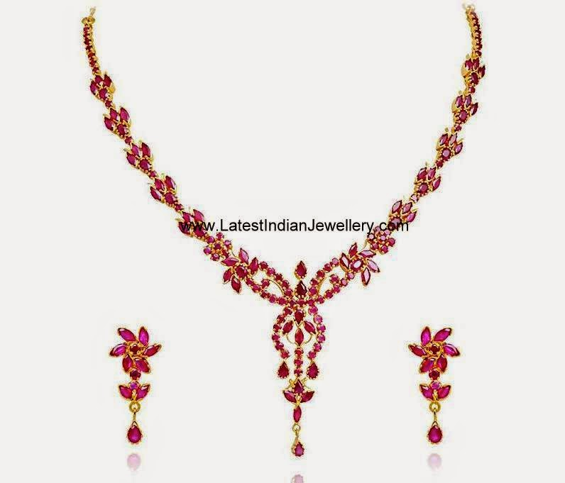 Delightful Ruby Necklace Set