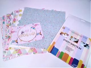 Colección de 16 papeles de scrapbooking y papel de doble cara tamaño A4 ideal para hacer pegatinas