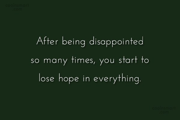 disappointments in life essay