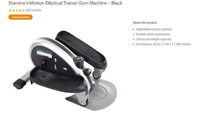 under desk elliptical office equipment