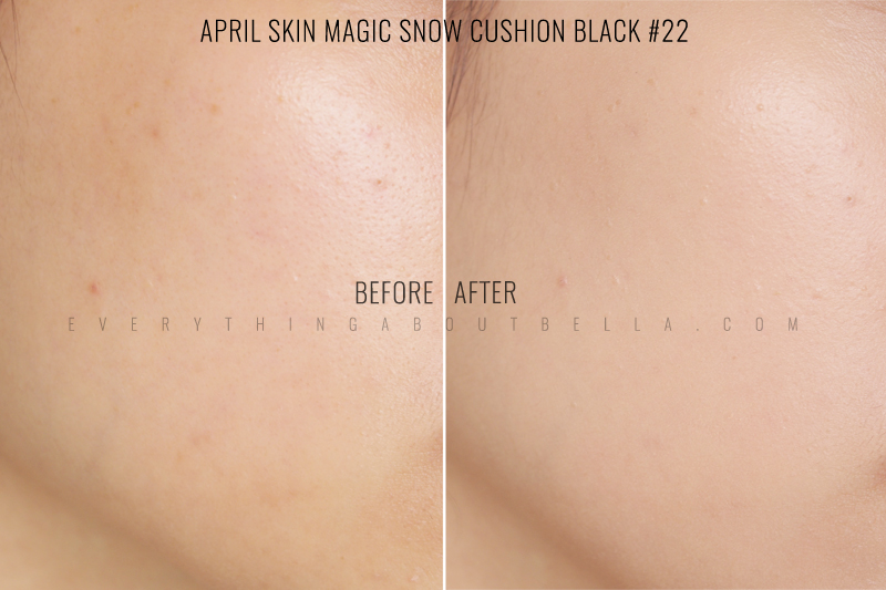 April Skin Review Magic Snow Cushion White & Black