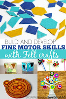 Fine Motor skills with felt crafts
