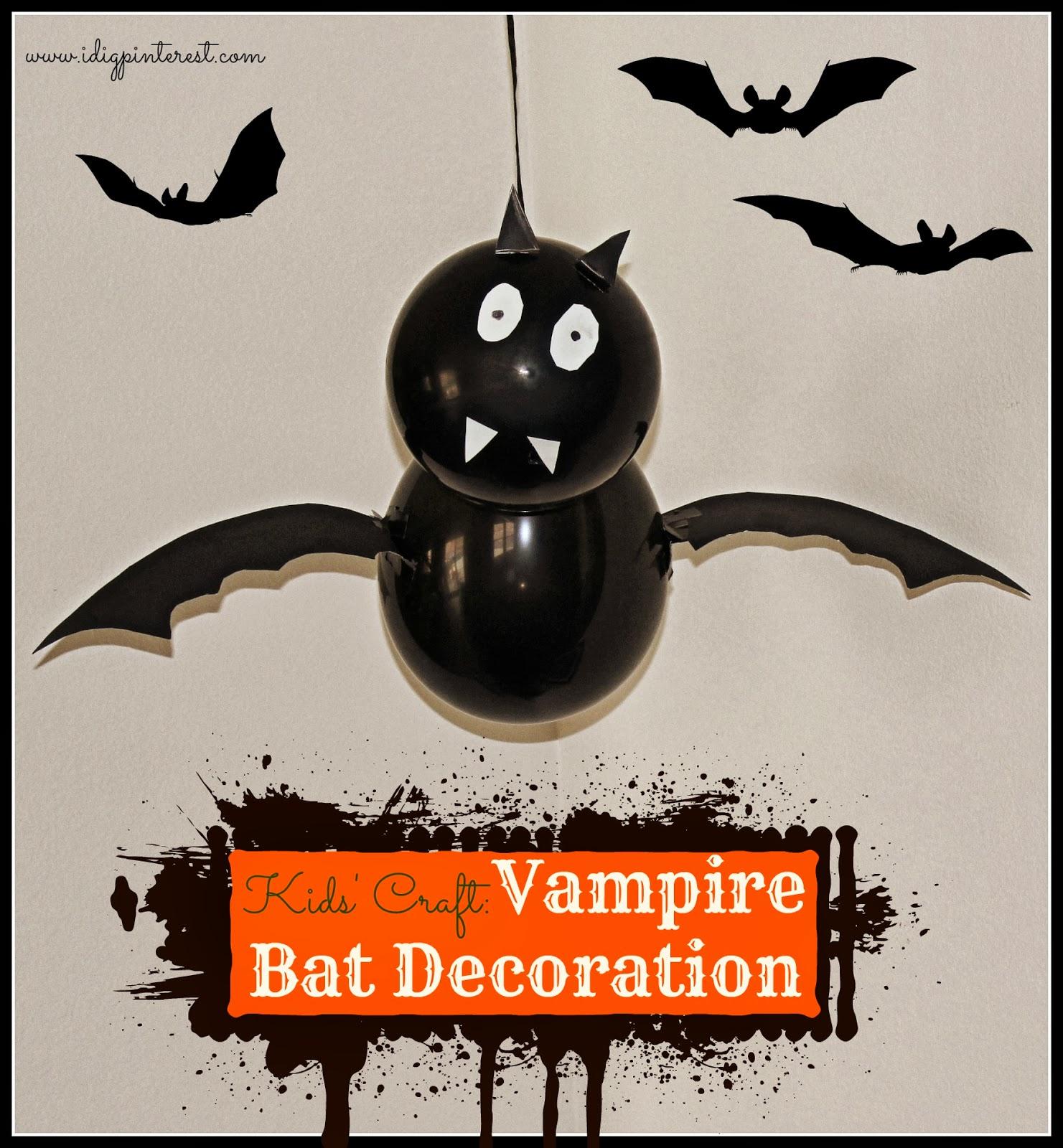 Halloween Kids Craft Vampire Bat Decoration I Dig Pinterest