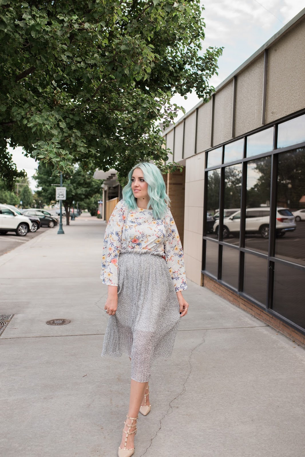 Blue hair, Utah Fashion blogger, Modesty