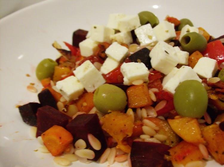 Salada de Pevide e Vegetais Assados