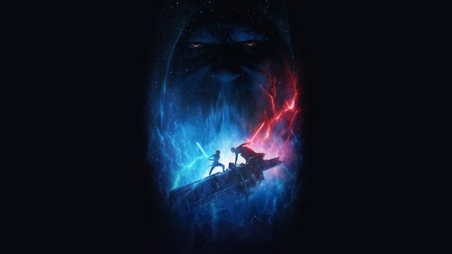 Rey Vs Kylo Ren Darth Sidious Star Wars The Rise Of Skywalker 8k Wallpaper 5 2