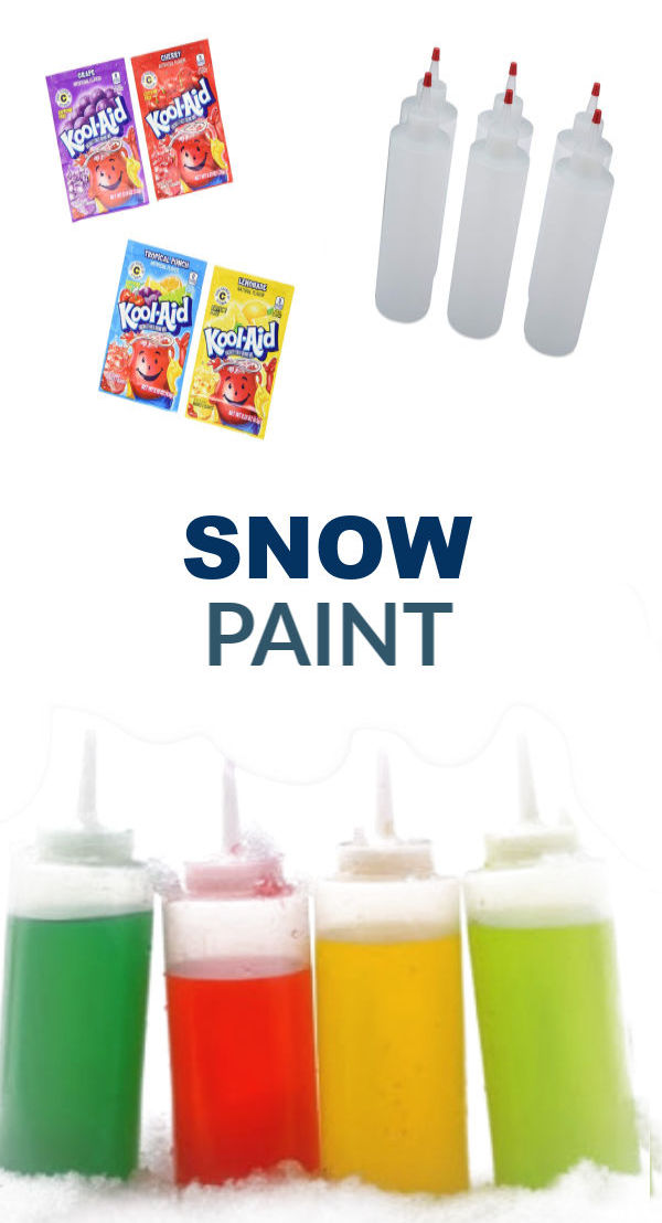 2-INGREDIENT SNOW PAINT- SO FUN! #snowpaint #snowpaintrecipe #koolaidsnow #koolaidsnowpaint #snowpaintforkids #snowpainting #snowpaintingforkids #paintthesnow #snowplay