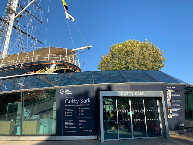The entrance to Cutty Sark shop and exhibit