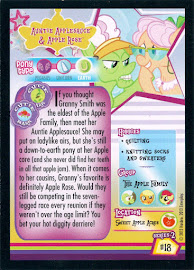 My Little Pony Auntie Applesauce & Apple Rose Series 2 Trading Card