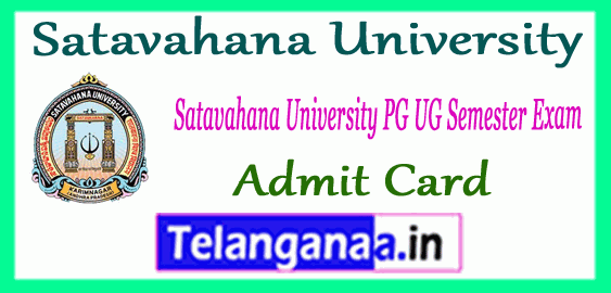 Satavahana University UG PG Semester Admit Card