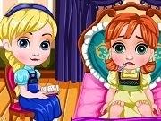 Frozen Baby Anna Flu Caring