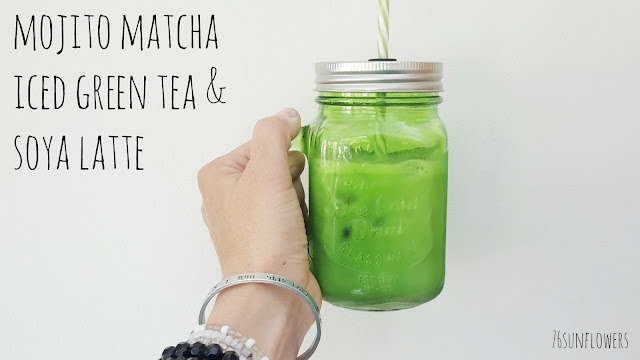 Mojito Matcha Iced Green Tea & Soya Latte // 76sunflowers