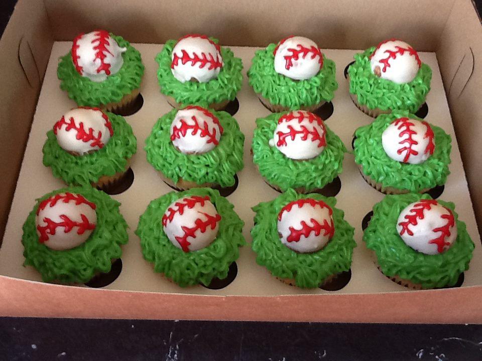 What The Cup Cupcakes Softball Baseball Cupcakes
