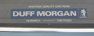 Duff Morgan rear window sticker