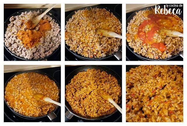 Receta de gratén de carne picada con calabacín 02