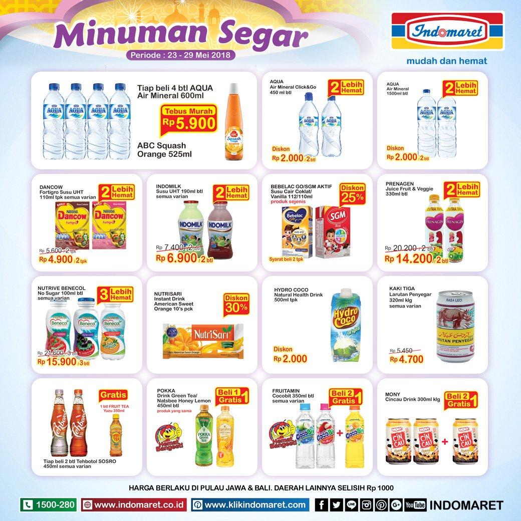 Indomaret - Promo Tebus Murah Minuman Segar (23 - 29 Mei
