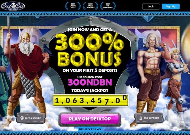 Cool Cat casino deposit bonus offer