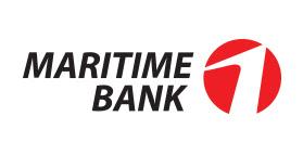 Logo ngân hàng MARITIMEBANK vector