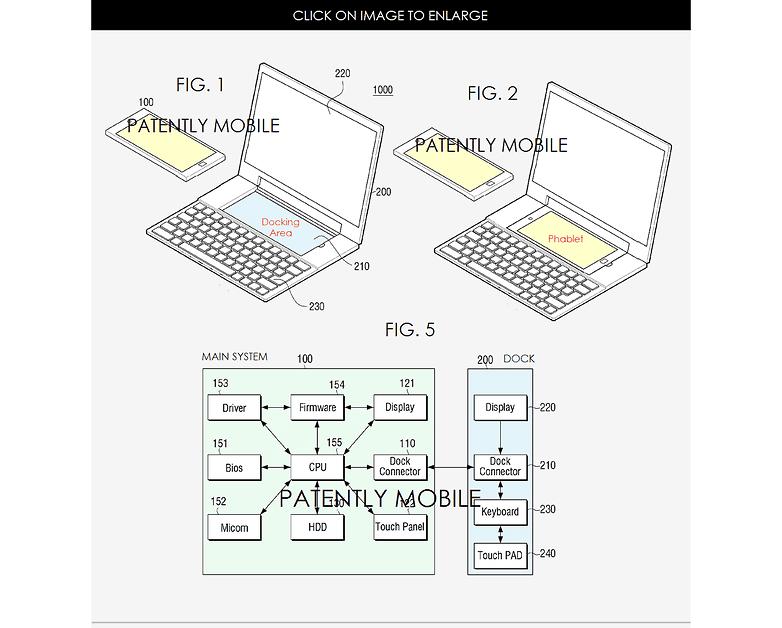 Samsung Note 6 menunjukkan area docking dan sistem utama