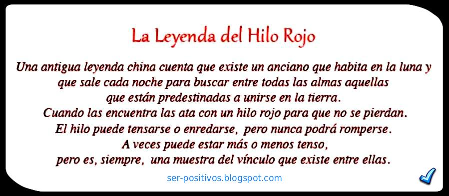 Ser Positivo La Leyenda Del Hilo Rojo