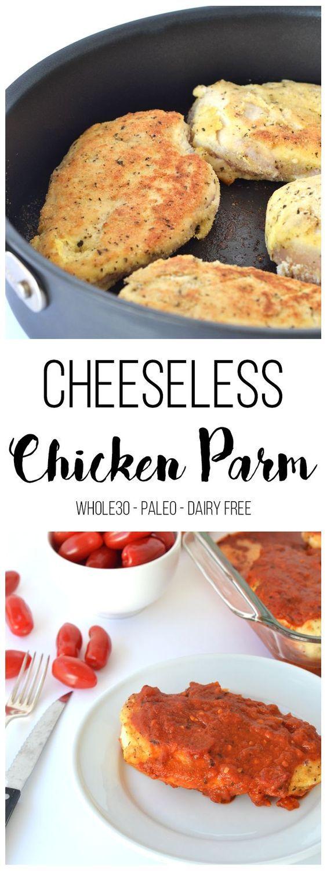 Cheeseless Chicken Parm