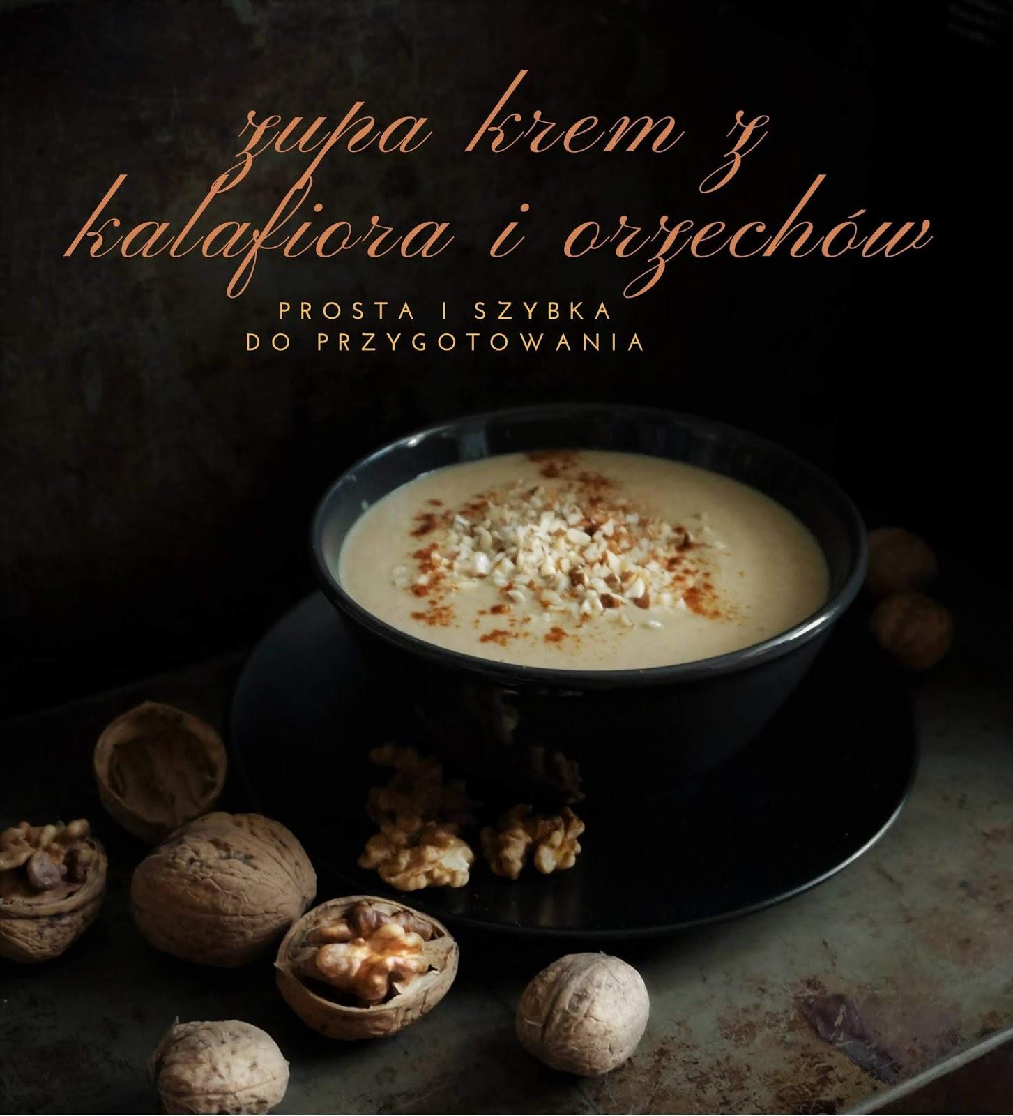 Zupa krem z kalafiora i orzechów
