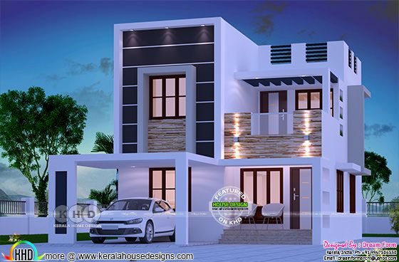 3 bedroom 1566 square feet flat roof residence