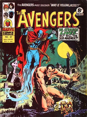Marvel UK, The Avengers #87, Dr Strange and the Sub-Mariner