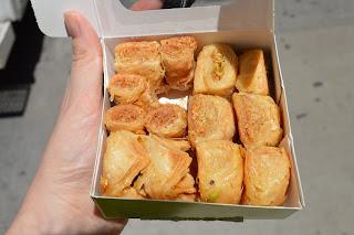 box of baklawa from Paramount Fine Foods Toronto blog