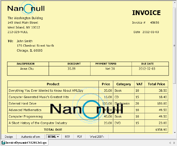 Dating invoices