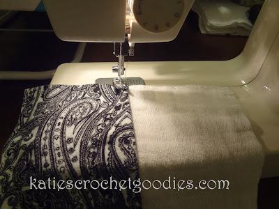 burp cloth sewing tutorial paisley