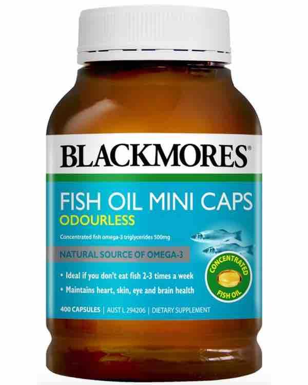 Dầu cá không mùi Blackmores Odourless Fish Oil Mini Caps 400 viên