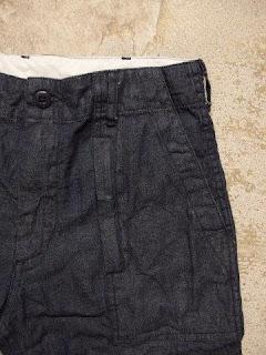 """FWK by Engineered Garments """"Fatigue Short in Indigo 8oz Cone Denim"""""""