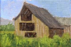 art painting barn miniature rural farm ranch acrylic