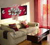 Living decorado con cuadros