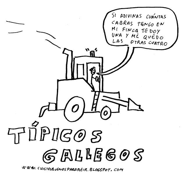 El típico gallego que va y le dice a otro:si adivinas cuántas cabras tengo en mi finca te doy una y me quedo las otras cuatro.