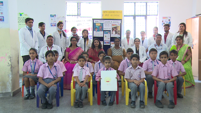 World oral health day Celebrated at Nims School by Nims Dental College