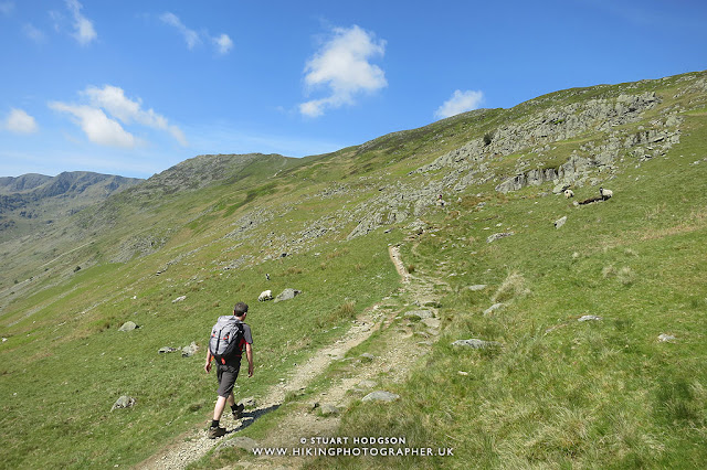 Striding Edge, Helvellyn, walk, hike, route, Patterdale, Glenriddig, Ullswater, Lake District