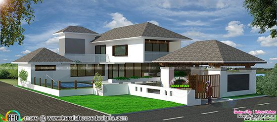 Modern house with landscape