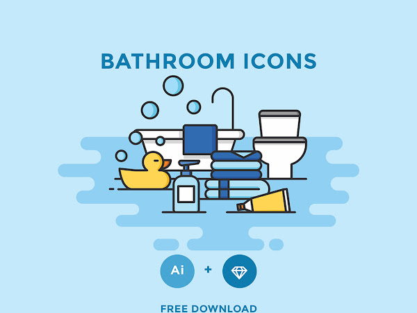 Download Vector Bathroom Icon Set Free
